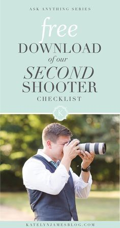 Second Shooter Checklist FREE Download by Katelyn James Photography