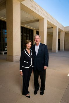 In one hour President and Mrs. Bush will commemorate the completion of the George W. Bush Presidential Center — home to the George W. Bush Presidential Library and Museum and the George W. Presidents Wives, Greatest Presidents, American Presidents, American History, Presidential History, George Walker, George Hw, George W Bush Library