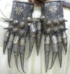 Bear Paw Armor Cuprum Arm Guard, Indo Persian Islamic Empire Dynasty The Fabulous Weird Trotters