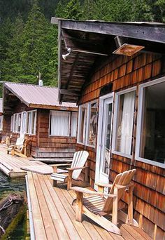 No roads lead to Ross Lake Resort in North Cascades National Park in Washington, which may explain its appeal. To stay at these floating cabins, you'll need to hike in or drive to the Diablo Lake Ferry, which meets up with a truck for a ride to the resort. Several cabin styles are available,