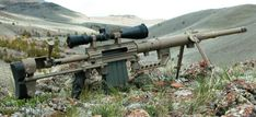 Bolt action .408 cal Intervention sniper rifle. Like. A. Boss.
