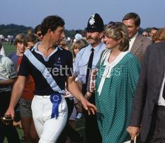June 6, 1982: Prince Charles  Princess Diana at a polo match in Windsor.