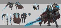 ArtStation - DK works in Shuohan zhou Warrior Concept Art, Fantasy Concept Art, Weapon Concept Art, Armor Concept, Game Concept Art, Fantasy Armor, Character Concept, Character Art, Dnd Characters