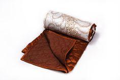 White Silk Printed Quilt