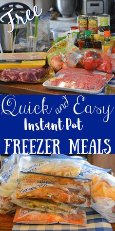 A Full month of easy instant pot freezer meals FreezerMeal DumpMeal ShoppingList InstantPot 551198441895834223 Pork Freezer Meals, Healthy Freezer Meals, Dump Meals, Freezer Cooking, Easy Meals, Beef Meals, Cooking Tips, Freezable Meals, Crock Pot Freezer