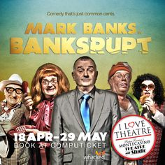 #Banksrupt Comedians, Theatre, Comedy, Studio, My Love, Funny, Books, Movies, Movie Posters