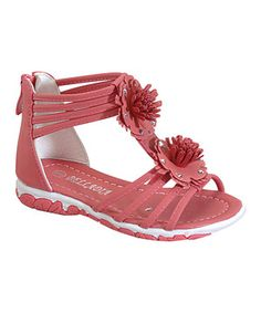 Love this Belladia Coral Olive Gladiator Sandal by Belladia on #zulily! #zulilyfinds