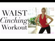 WAIST CINCHING WORKOUT  waist training workout to lose inches off waist
