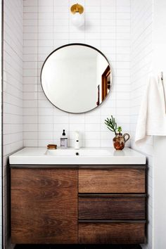 Wood Bathroom Vanities for small bathrooms