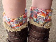 tangled happy: Ribbed Boot Cuff