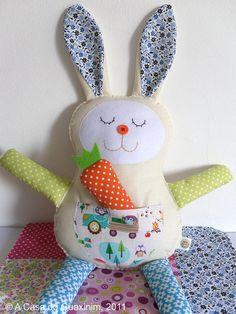 Sweet little bunny by acasadoguaxinim on Etsy