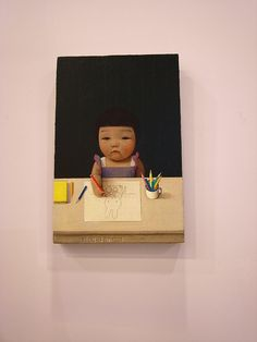 Girl Draws Miffy by Liu Ye. One of my favorite paintings ever.