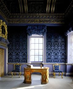 the blue room - 1729 - Chiswick House is a Palladian villa in Burlington Lane, Chiswick, in the London Borough of Hounslow in England