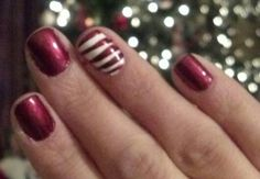 Candy Cane Christmas nails :)