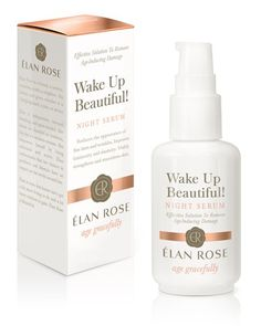 Elan Rose Skin Products Not Just for Women - Their products reduce and remove age-induced skin damage with their two products. The Wake Up Beautiful Night Serum with vitamin serum and the Hello Sunshine Day Cream SPF with vitamin e. How To Treat Acne, Look Younger, Face Oil, Aging Gracefully, Beauty Industry, Makeup Junkie, Wake Up, Serum, Home