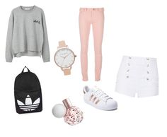 """Untitled #12"" by kernacskinga on Polyvore featuring MANGO, Balenciaga, Pierre Balmain, adidas, Topshop and Olivia Burton"