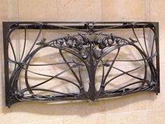 Hector Guimard metal work at the Musee d'Orsay (Paris).