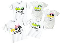 I'm The Big Cousin Little Cousin Baby Cousin Sibling by TheCuteTee, $62.95