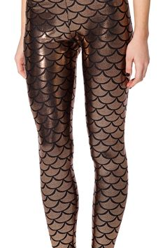 Mermaid Bronze Leggings - LIMITED by Black Milk Clothing $80AUD
