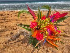 Bird of paradise bridal bouquet