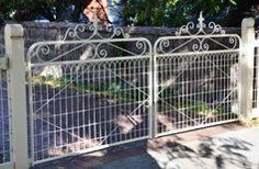 rural driveway gate   ... centres adelaide hills garden agatha gate wrought iron garden gate