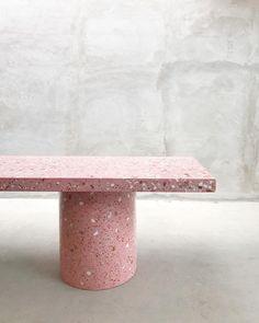 II Pink terrazzo table II