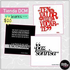 Imanes con frases inspiradoras para darte ánimo todos los días. ¿Cuál te gusta más?  Encontralos en www.tiendadcm.com