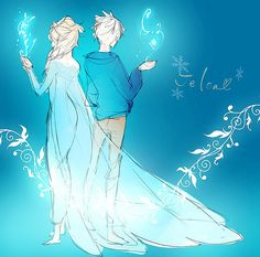 Elsa and her uncle jack frost.  Read the back story.