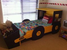 truck theme boys room | Kurts Construction room - Inspiration for Kids Bedroom Decor at ...