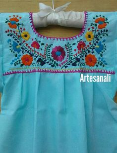 Embroidered Clothes, Embroidered Blouse, Pom Pom Shirts, Mermaid Coloring Pages, Mexican Embroidery, Casino Dress, Hand Embroidery Videos, Kurta Designs Women, Date Dresses