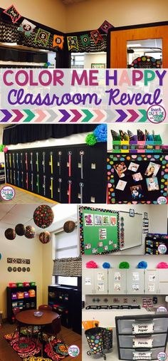 """""""Color Me Happy"""" Classroom Reveal with Maker Space! Classroom Layout, Classroom Decor Themes, Classroom Setting, Classroom Design, Future Classroom, School Classroom, Classroom Organization, Classroom Management, Classroom Ideas"""