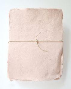 handmade paper in apricot | terra bellus paper co