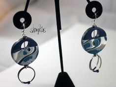 Polymer Clay Earrings  GWENDOLYN Collection  WEARABLE by shankas, $18.00