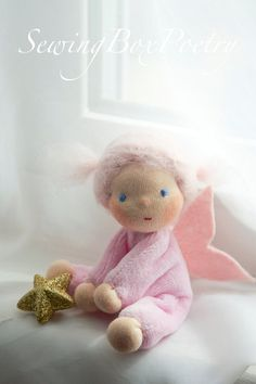 Poetry Fairy tiny little Waldorf inspired doll by SewingBoxPoetry