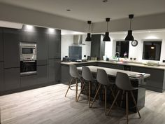 This Clerkenwell Graphite kitchen was designed by our Portsmouth depot,what do you think? Create your ideal kitchen with Howdens.