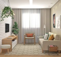 Tiny Living Rooms, Small Apartment Living, Home Living Room, Living Room Designs, Condo Interior Design, Home Room Design, Apartment Interior, Simple Living Room Decor, Home Decor Bedroom