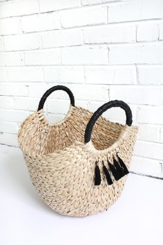 United By Form Basket with Tassels