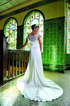What a beautiful back on this wedding dress from Ivory & Co