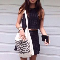 American City Letters Handbag Women Canvas Shopping Bag Messenger Shoulder Bag Z