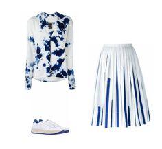 Casual Monday: Suzusan cardigan, IO Ivana Omazic pleated skirt, Atlantic Stars sneakers