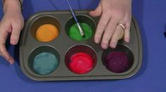 Sticky Paint - dye sweetened condensed milk with food coloring and use as paint.