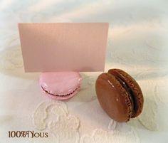 marque place - porte nom - macaron fimo - porte  nom - marque nom - mark-up - name badge - macaron holder name - brand name -  contact@100pour100nous.fr