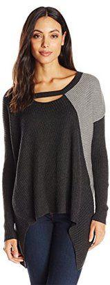 XCVI Women's Asher Tunic Sweater - Cotton Viscose Knit - Shop for women's Sweater - Coal/Ash Sweater