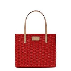 love this red basket purse