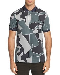 22396f982aff4 FRED PERRY MODERN CAMOUFLAGE-PRINT PIQUE SLIM FIT POLO SHIRT.  fredperry   cloth