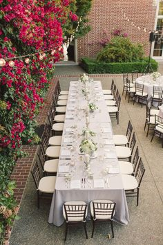 #tablescapes, #outdoor-dinner-party  Photography: Carlie Statsky Photography - carliestatsky.com  Read More: http://www.stylemepretty.com/2014/06/10/outdoor-elegance-at-the-kohl-mansion/
