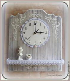"""Часы с полочкой """"Ангел в старом доме"""" - Melange magasin. Можчиль Ирина"""