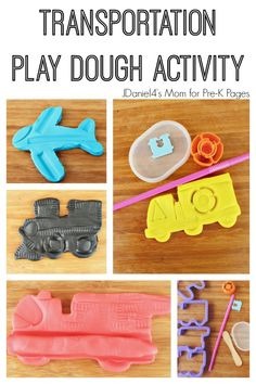 A fun transportation play dough activity for preschool and pre-k. Your kids will have a blast making vehicles with this hands-on play dough tray and mats.