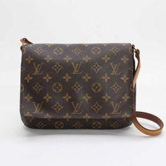 Louis Vuitton Musette tango short Monogram Shoulder bags Brown Canvas M51257