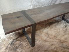 Live Edge Bench made of Wood and Metal... Ready to Ship!